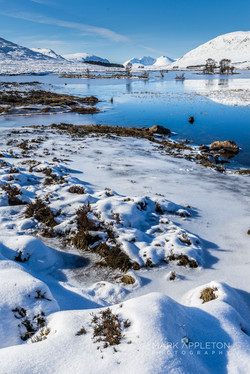 Frozen Loch Droma with An Teallach