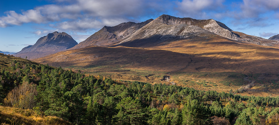 Autumnal colours on Liathach and Beinn Eighe.
