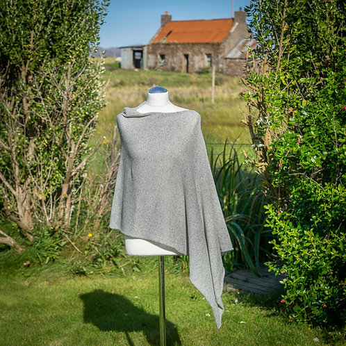 Highland Merino Silk Asymmetric Poncho