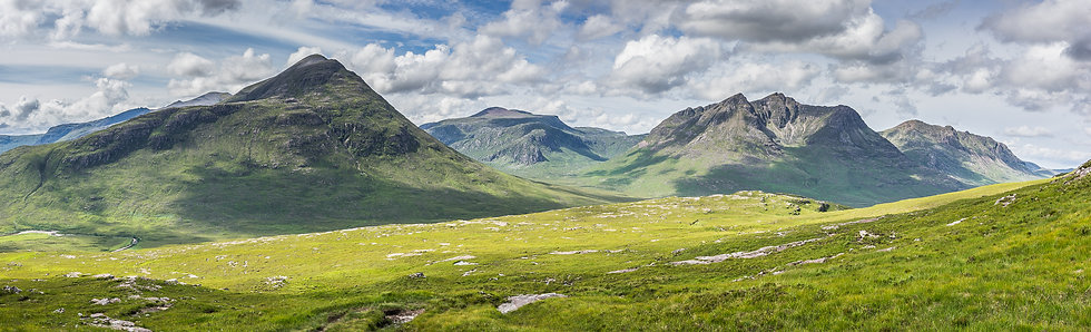 Fisherfield mountains in summer mode.