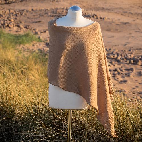 Sand Seashore Cotton Asymmetric Poncho
