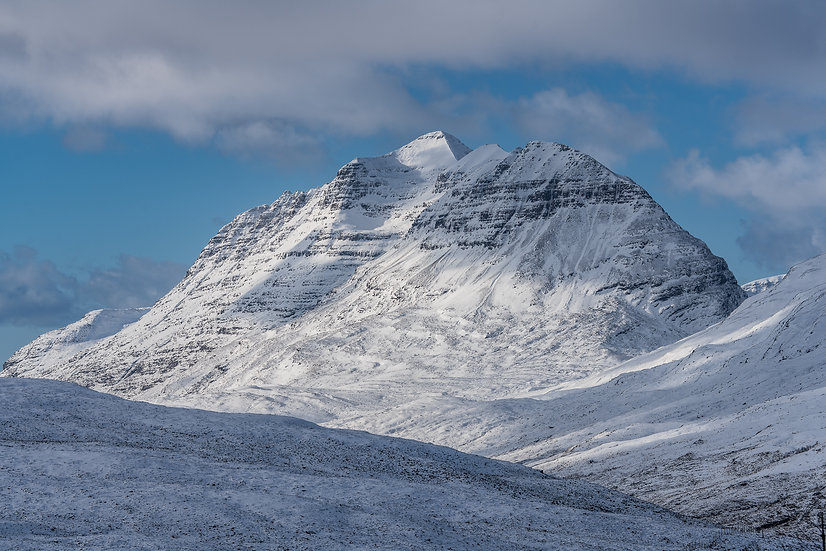 Snow covered Liathach