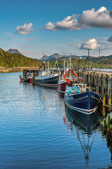 Gairloch harbour in the evening summer light
