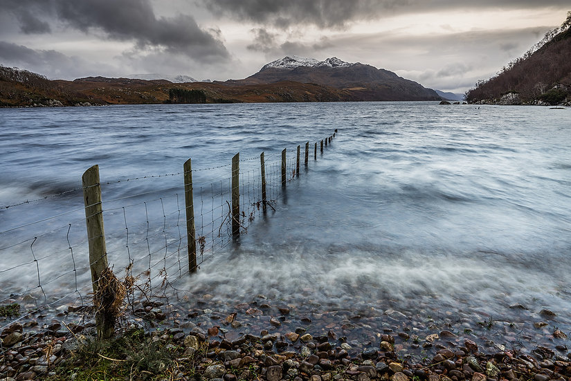 Stormy weather on Loch Maree