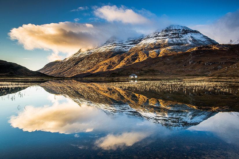 Almost a mirror reflection of Liathach in Lochan an Lasgair.