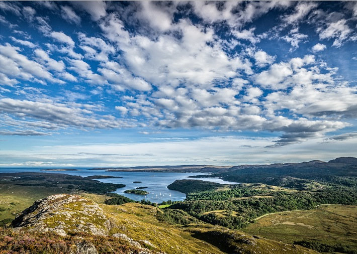 Gairloch and Shieldaig Bay from Sithean Mor.