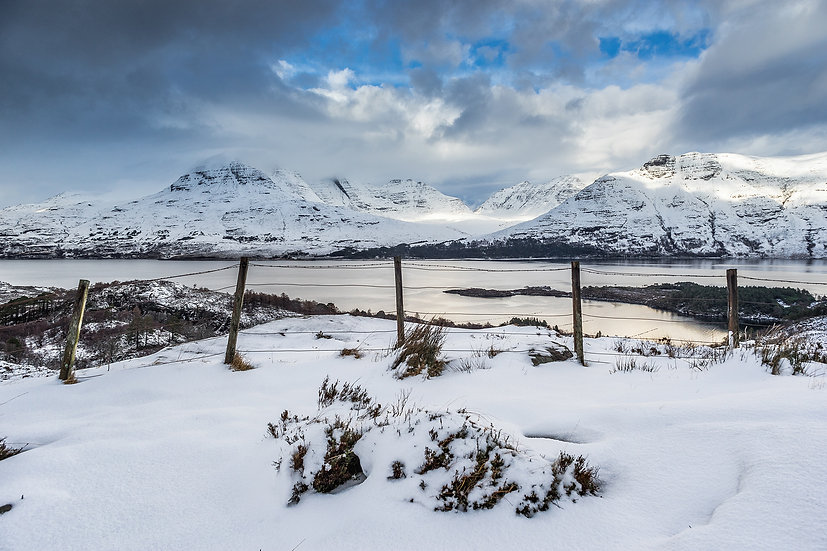 Torridon in its winter coat after fresh snow.