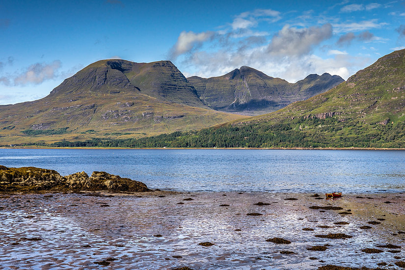 Low tide on Upper Loch Torridon with Beinn Alligin in the background