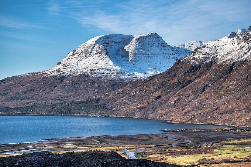 Snow capped Beinn Alligin, Torridon