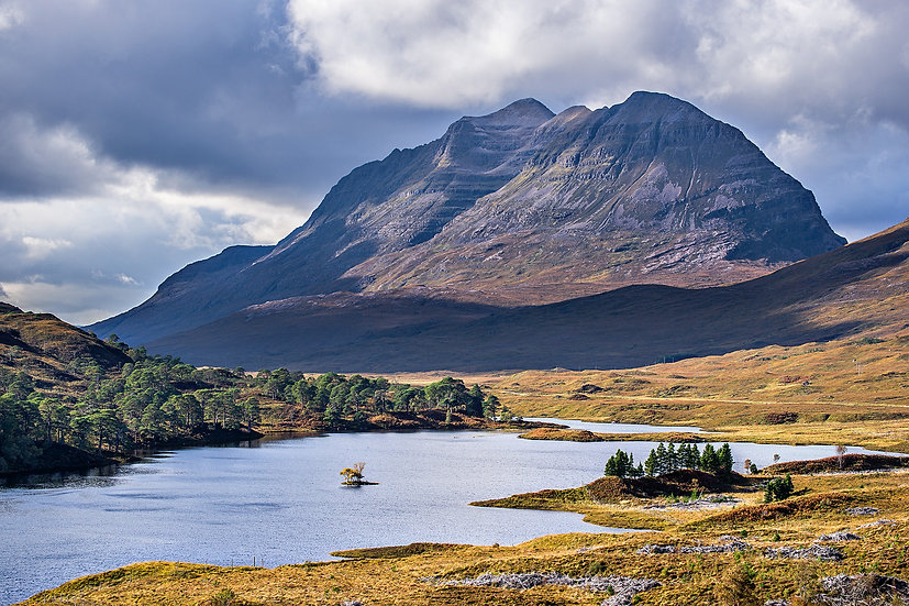 Looking across an autumnal Loch Clair to Liathach.