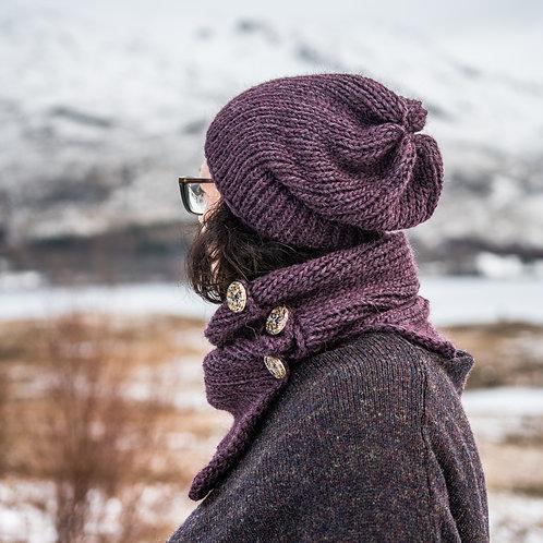 Chunky knit Alpaca mix slouch beanie