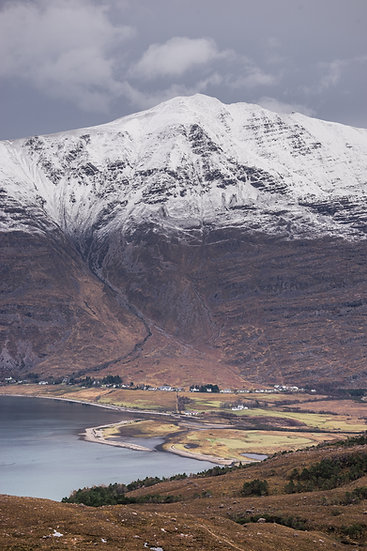 Looking down to Torridon with a snow capped Liathach