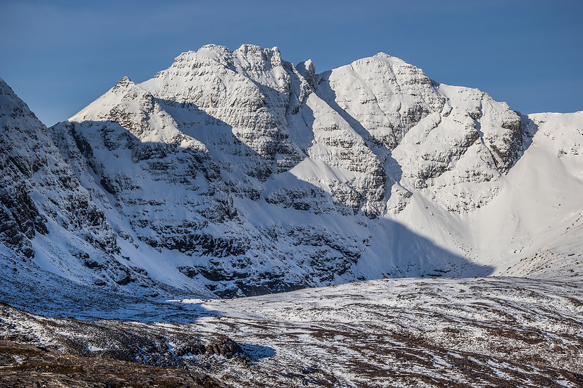 The scary ridge from Sgurr Fiona to Corrag Bhuidhe, An Teallach.