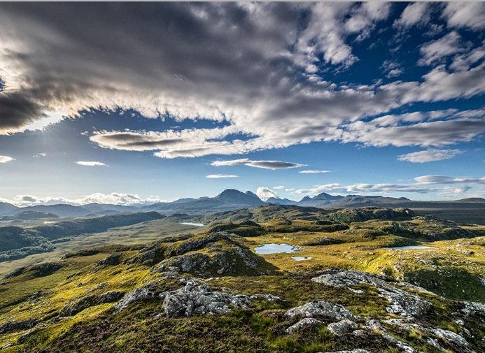 Torridon mountains from Sithean Mor.