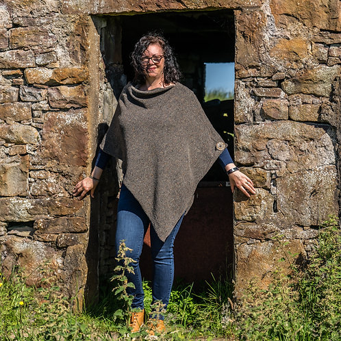 Woodland Crofter Poncho Donegal Wool