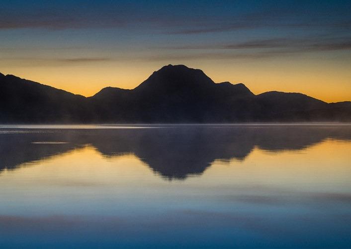Slioch reflecting in Loch Maree.