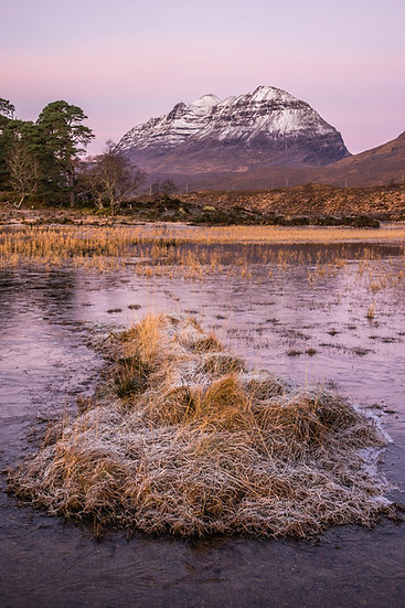 Red skies on Liathach, Loch Clair