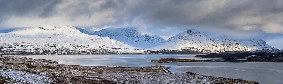 Torridon mountains clearing form a snow shower.