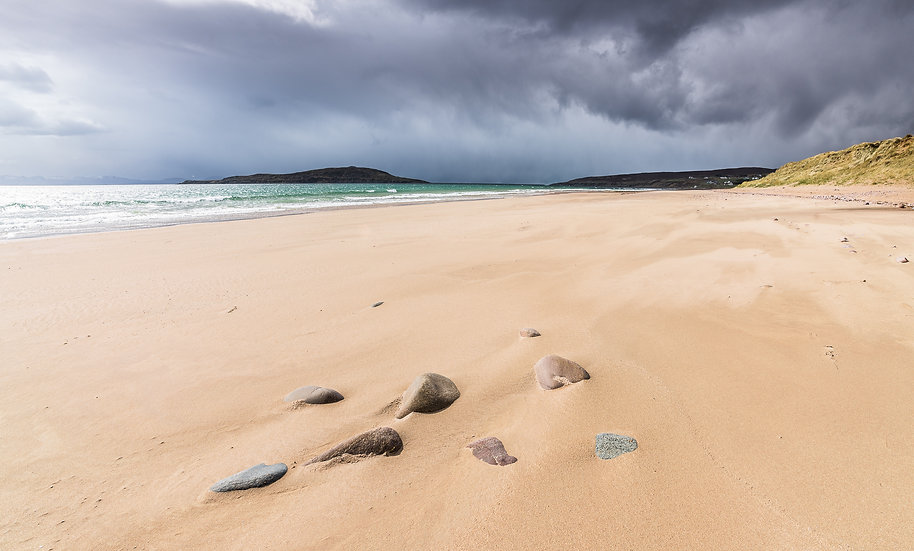 Stormy skies over Big Sand before the hail shower