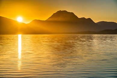 Sunrise over Slioch and Loch Maree, Wester Ross.