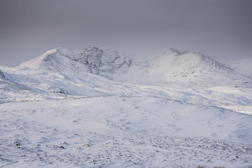 An Teallach in its winter coat.
