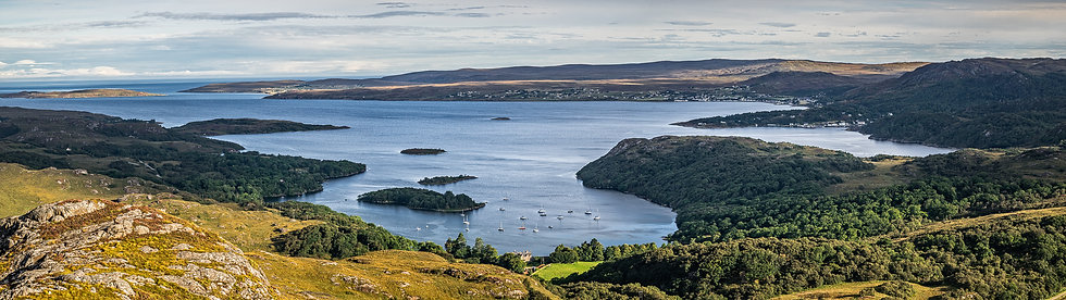 Looking towards Gairloch from Sithean Mor