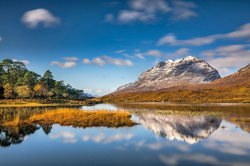 Slow shutter speed used to create almost mirror like reflections of Liathach