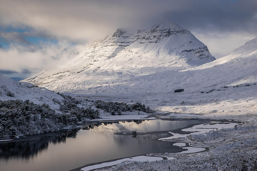 Looking across Loch Clair to Liathach in its winter coat.