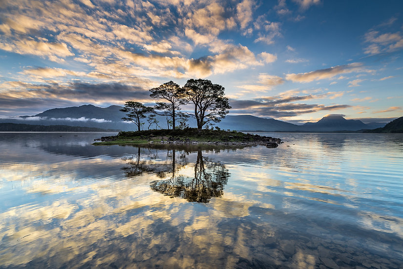 One of the many small islands on Loch Maree with Slioch in the distance