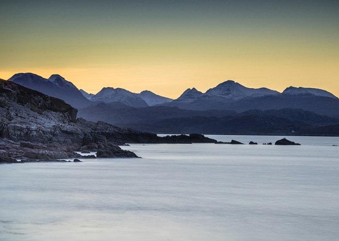 Early morning light on the Torridon Mountains.