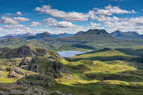 Looking towards the Torridon mountains from Sithean Mor