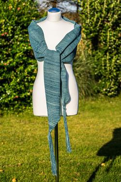 Sea green tassel scarf