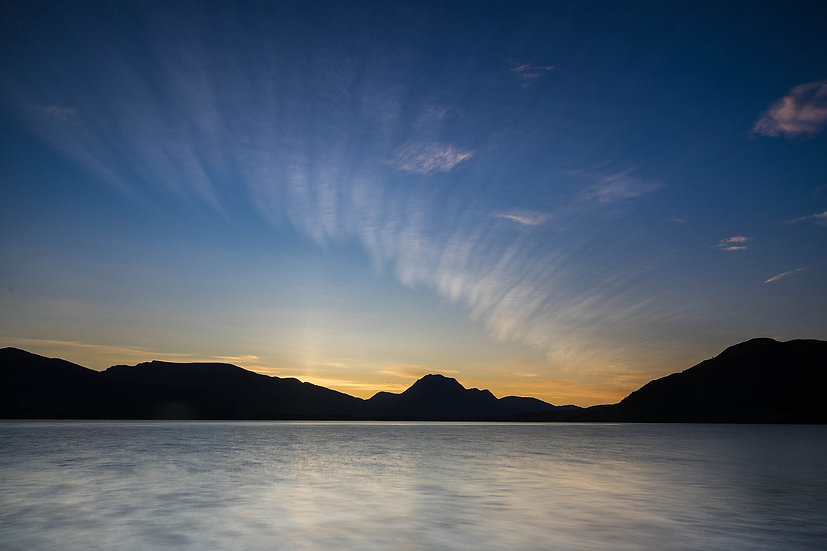 Before the sunrise over Slioch, Loch Maree.