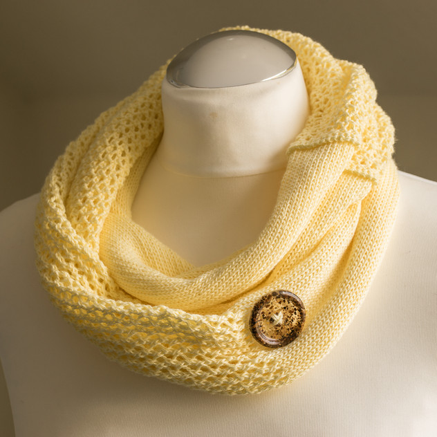Mellow Yellow cotton infinity scarf