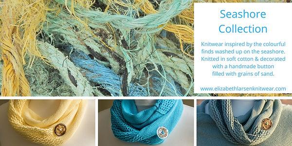 Seashore otton colection knitted by Elizabeth Larsen Knitwear. Knitwear designed and mde in Scotland.