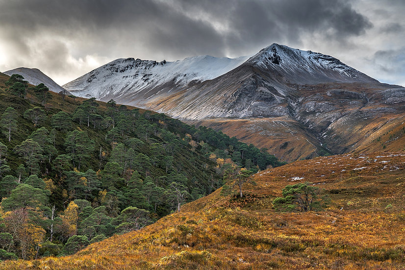 Autumn colours on Beinn Eighe still looks stunning even on a drab day.