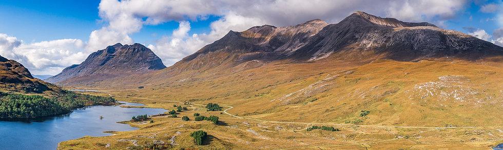Autumnal colours on Liathach and Beinn Eighe, Glen Torridon