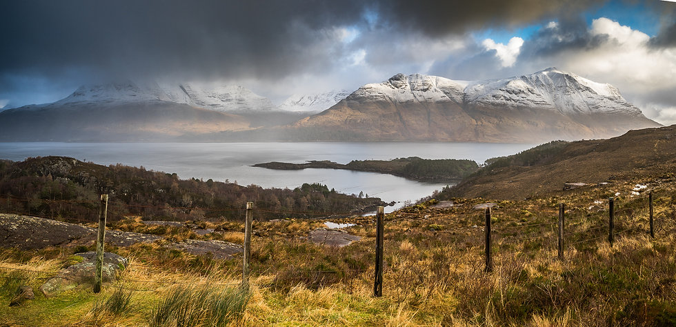 Another snow shower over the Torridon mountains.