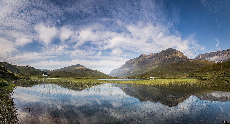 Liathach reflecting in the still waters of Lohan an lasgair
