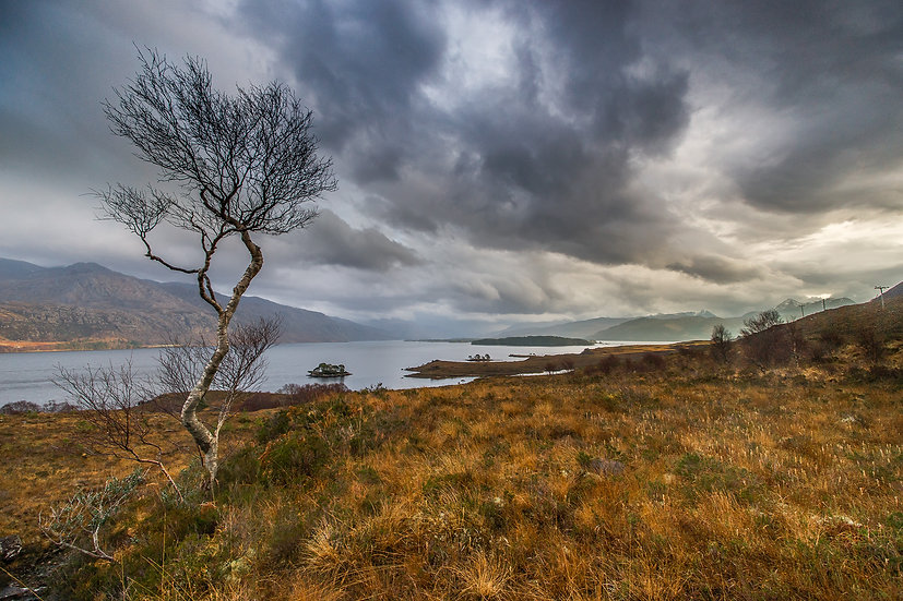 Moody skies over Loch Maree