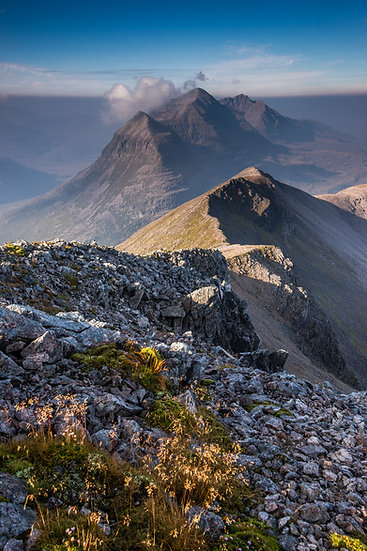 Looking towards Liathach from the summit of Beinn Eighe.