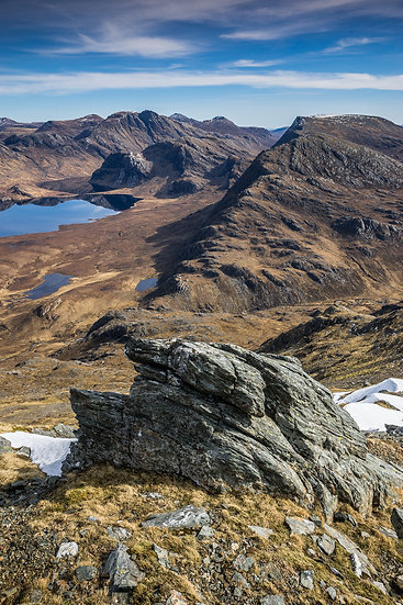 Looking across towards the Fisherfield mountains from Beinn Airigh Charr