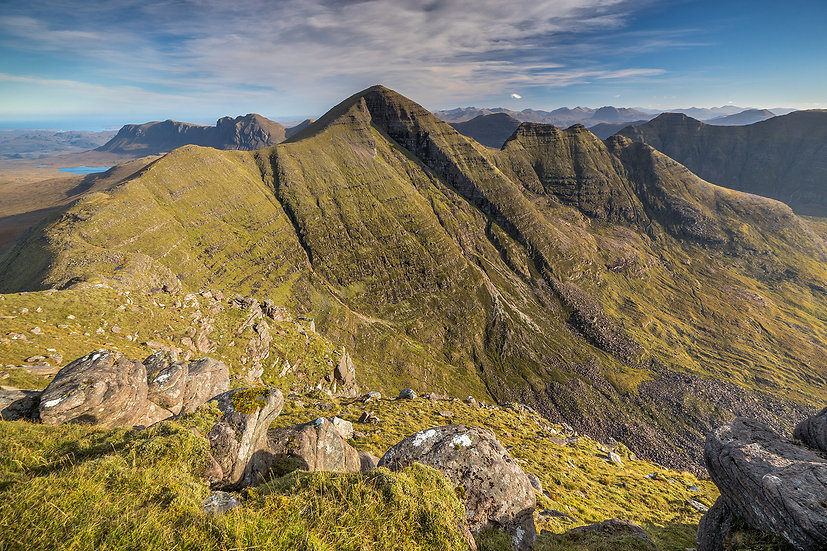 Looking towards the summit of Sgurr Mhor (Beinn Allign) from Tom na Gruagaich.