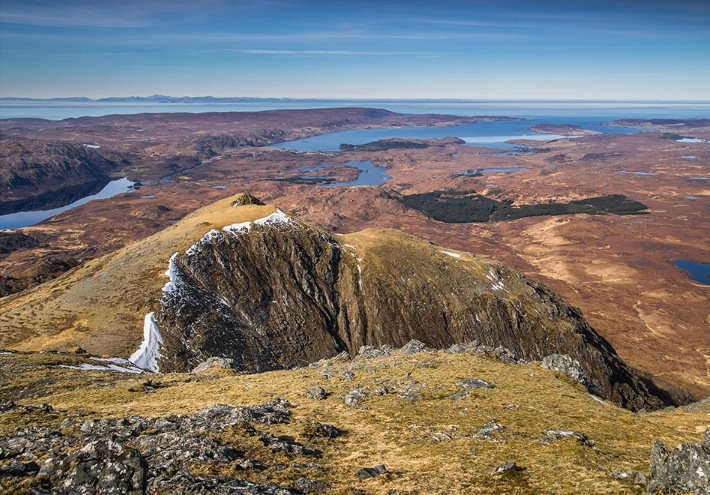 Looking towards Poolewe and Aultbea from Beinn Airigh Charr.