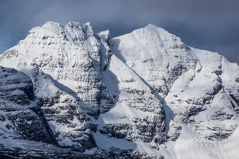 Snow covered ridge of An Teallach