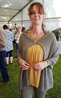 Shawl madein Scotland by elizabeth Larsen Knitwear