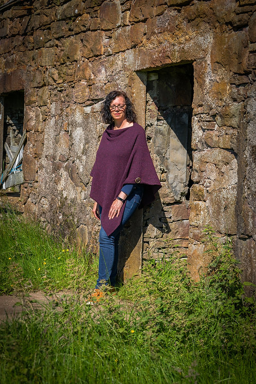Crofter Tweed Donegal Merino Wool Poncho