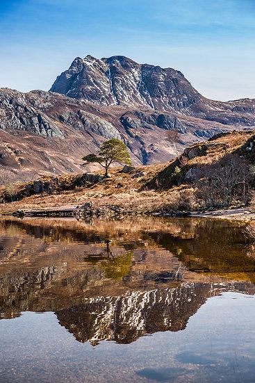 Slioch reflecting into Loch Maree
