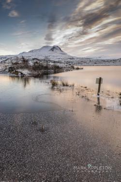 Frozen Loch Bad an Sgalaig