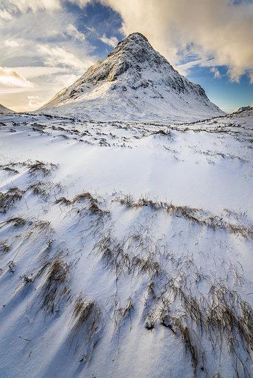 Snow covered Buachaille Etive Beag, Glencoe